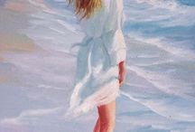 femme plage
