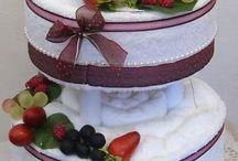 тортики из полотенец