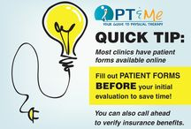 PT Quick Tips / Quick Tips on making your journey through rehabilitation smoother!
