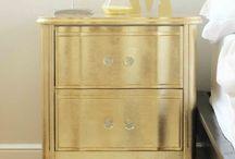 diy gold leaf furniture