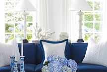 Blue & white interiors / ..always an effective classy colour duo!