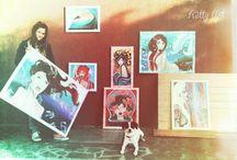 """KETTY ART  """" LA DONNA E IL MARE """" / Dipinti dedicati alla bellezza femminile e al sentimento d'amore che provo per il mare"""