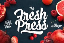 Fresh Press Script Font Family