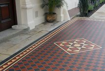Porch Tiles / Examples of geometric tile installations in a porch setting