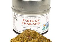 Thai Cuisine / Liberally add this blend to lend striking flavor and beautiful color to chicken, veggies, and sauces. Rich curry and turmeric make this Thai blend a Gustus Vitae favorite.