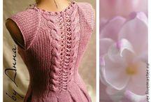 Šaty, sukně - pletení