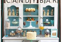 Candy bars/Sweet tables