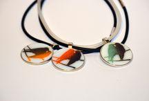 Glass pendants / fused glass pendants