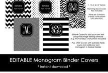 Planner Covers/Binder Covers / planner cover, binder cover, planner printable, planner decorating