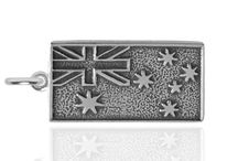 Australia Charms / Sterling silver and gold, antique, vintage and new Australiana and Australian themed charms and pendants. Koala to kangaroo, boomerang to didgeridoo. Some with enamel, crystal or gemstones.  silverstarcharms.com