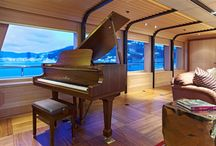 Yachts and Pianos / Luxury yacht deserves a luxury piano