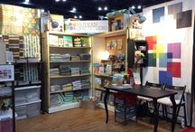 Booth Design / Different booth setups and designs from various quilt retail and wholesale shows.