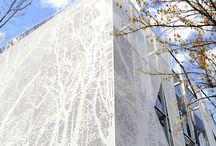Fasade materiale/lys