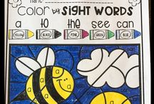 Color By Code, Color By Sight Words