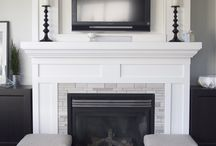 DIY Fire place inspiration / This board is all about fire place inspiration. We desperately need to redo our gas fire place, but we can't agree on anything!