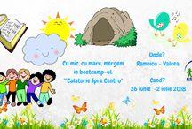 """Tabara  copii  """" Calatorie spre Centru"""" / In perioada 26 iunie -2 iulie 2018, la Baia de Fier, langa Ramnicu-Valcea, la Conacul Bunicilor, va avea loc tabara CALATORIE SPRE CENTRU, o tabara de poveste pentru dezvoltarea abilitatilor copiilor, cu varste între 6 – 12 ani."""