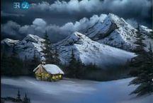 Kar kış manzaraları
