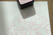 roos met distress ink