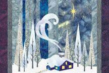Quilts winterlandscape