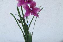 Harisnyavirágaim ( Nylon Flower) / Általam készített virágok,figurák,képek harisnyából ( Nylon flower)