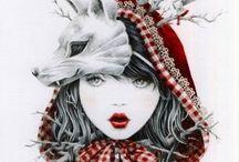 Mascotte chaperon rouge