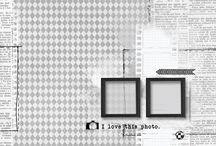 Скетчи с двумя квадратными фото / Scrapbooking Scetches