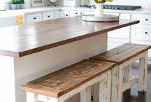 Bench seats kitchen