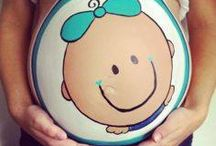Belly painting / Cute ideas for pregnant belly painting, I will do this one day when I have mine. :)