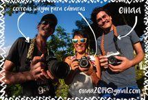 Correas Wayuu para Cámaras / Correas con tejido wayyu para cámaras fotográficas.