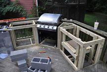 Corner barbecue design