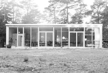 New facade, Furillen. / The old house is born again with a fully glazed facade with a modular built-in shelf system.