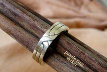 Silver promise rings for men