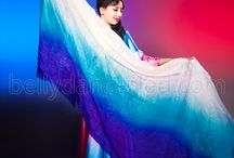 belly dance veils / Show for the most flamboyant and colorful Fan Veils From Bellydance-Led.