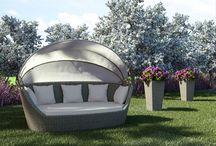 Pohovka Portofino z umělého ratanu / Pohovka PORTOFINO z oblého umělého ratanu je ideální k odpočinku na terasy, zahrady, k bazénům do SPA a wellness center. Baldachýn chrání před sluncem i větrem, lze jej jednoduše složit.  Konstrukce je ze svařovaného hliníku, výplet z kvalitního oblého polyuretanu, čalounění z polyesteru impregnovaného teflonem – lze prát , bez aviváže.