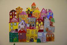 město, domy