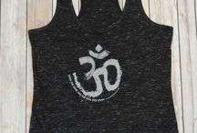 Yoga Inspired Collection / Our yoga inspired collection, is full of tees, tanks, sweatshirts,  onesies, bibs, pants, even tees for your dog! Each style  either have a motivational, inspiring, or downright funny message. All are available for purchase @ www.picassojasper.com