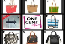 Win It Wednesday June 25 at 10 PM / Win your dream designer bag tonight  @OneCentChic for just pennies - choice auction