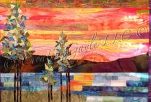Sunset art quilts