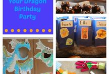 Janco verjaardag / How to train your dragon birthday party