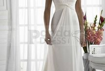 Wedding dress broad shoulders