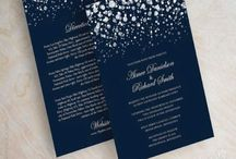 Silver & Navy Wedding Theme