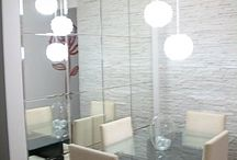 Wall panel at dining Area