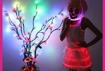 halloween costumes / fiber optic clothing , can change 7 light colors on one outfit  .