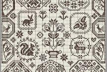 cross stitch sampler
