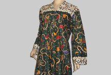 Dress Batik Resleting Depan Hijau [D1302]