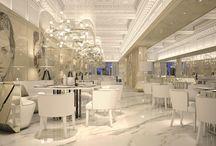 Commons area / Hotel room interior, luxury hotel interior, luxury interior design, modern hotel furniture