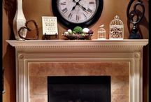 Fireplace mantles decorating