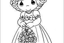 Precious Moments / Coloring Pages