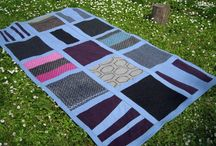 Blanket - BLUE II / SIZE: 132x222cm MATERIAL - wool, cotton MADE - handmade