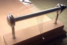 Mary Bernard's beading loom.